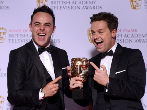 Baftas 2015: Ant and Dec get ready to go on the lash as they win TWICE but Benedict Cumberbatch misses out
