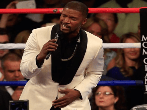 Jamie Foxx comes under fire for US national anthem performance at Mayweather v Pacquiao fight