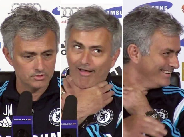 Mourinho jokes about strangling Manager of Month panel My Football Views/YoouTube