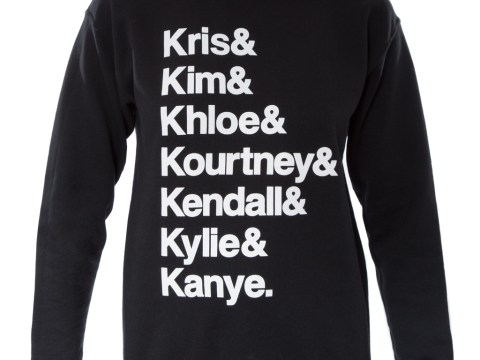 Kardashians jumper (with Kanye's name on it) is the koolest