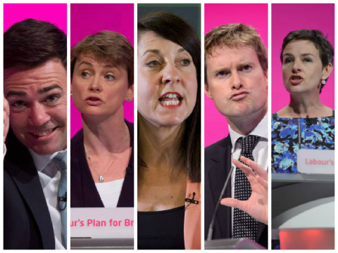 Awkward: The Labour leadership candidates are all white and Oxbridge-educated