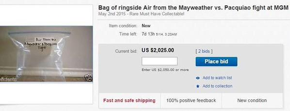 Someone actually tried to sell 'ringside air' from Floyd Mayweather v Manny Pacquiao for £1600