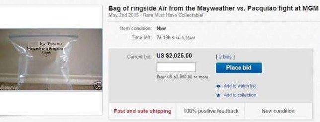 Floyd Mayweather: Someone actually tried to sell 'ringside air' from