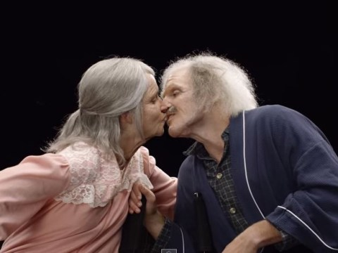 Young couple's reaction to what they'll look like aged 90 is amazing