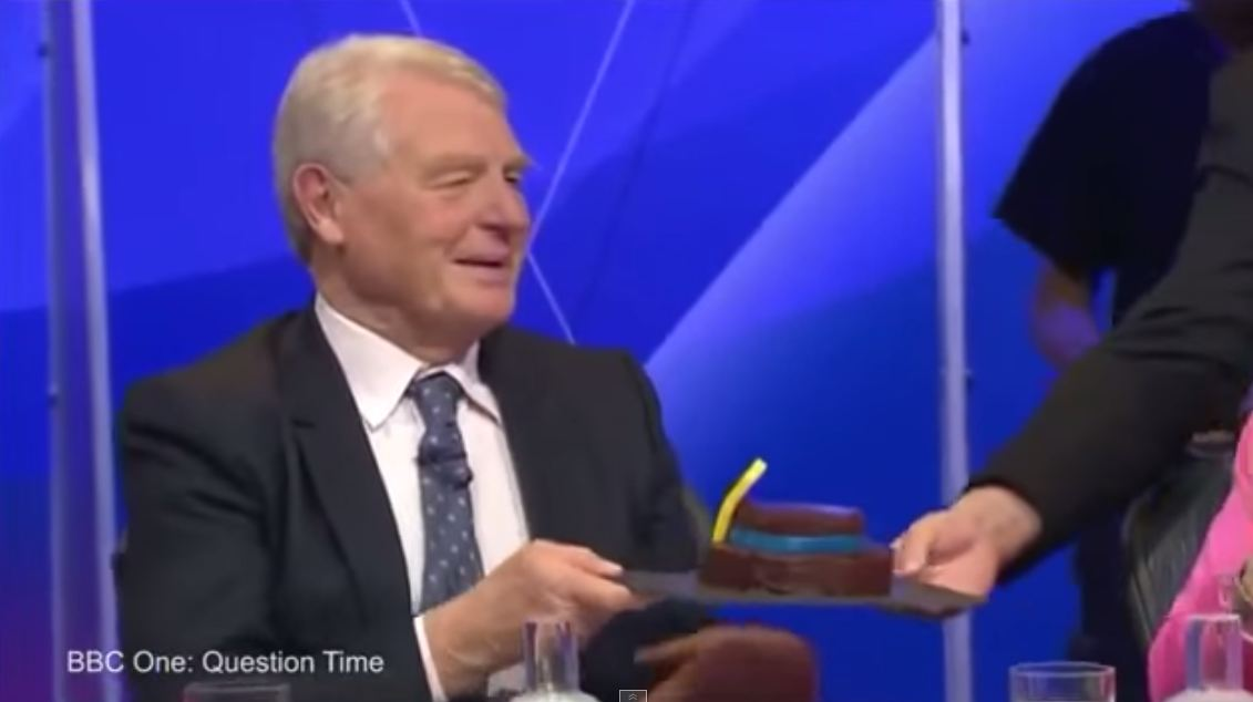 Paddy Ashdown literally eats hat, because nothing makes sense anymore