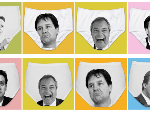 Election 2015: Show the UK's politicians what you really think with a pair of political pants