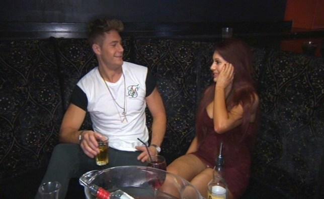 Scott and Chloe flirt Geordie Shore (Picture: MTV)