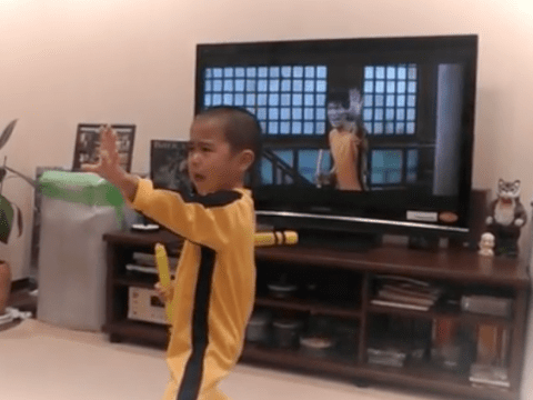 This little boy recreating a Bruce Lee scene immaculately will blow your mind