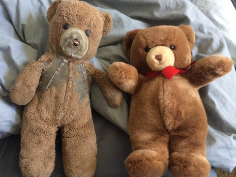 Mum buys two bears for birth of son 30 years ago, he's now giving one to his new-born daughter