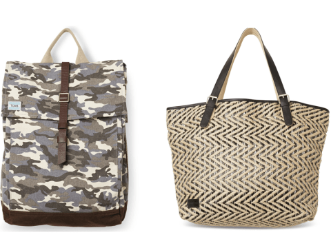 Buy one of these bags and TOMS will help provide a safe birth to a mother and baby in need