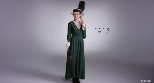 100 years of fashion from 1915 to 2015, 1915