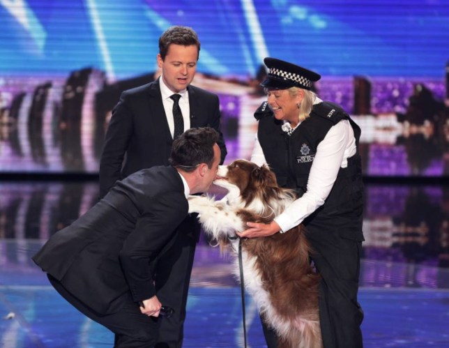 *** MANDATORY BYLINE TO READ: Syco / Thames / Corbis ***<BR /> The judges and contestants are all seen at the live final of Britain's Got Talent on May 31st. <P> Pictured: Jules O'Dwyer and Matisse <B>Ref: SPL1041421 310515 </B><BR /> Picture by: Dymond / Syco / Thames / Corbis<BR /> </P><P>