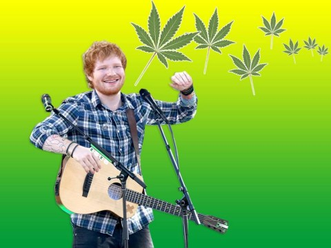 Ed Sheeran has written a song about his love of marijuana