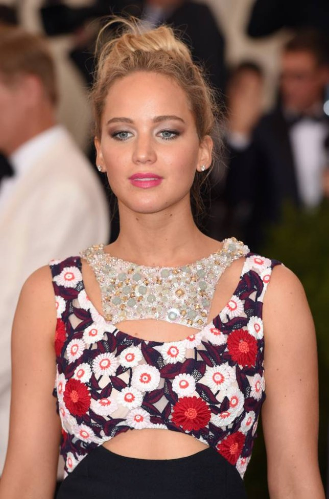 """NEW YORK, NY - MAY 04:  Jennifer Lawrence attends the """"China: Through The Looking Glass"""" Costume Institute Benefit Gala at Metropolitan Museum of Art on May 4, 2015 in New York City.  (Photo by Karwai Tang/WireImage)"""