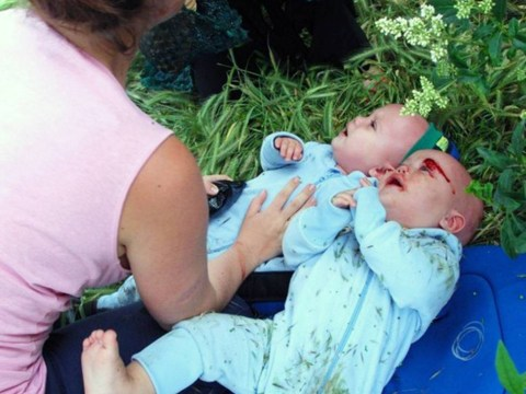 Baby twins survive after drunk driver smashes into their buggy