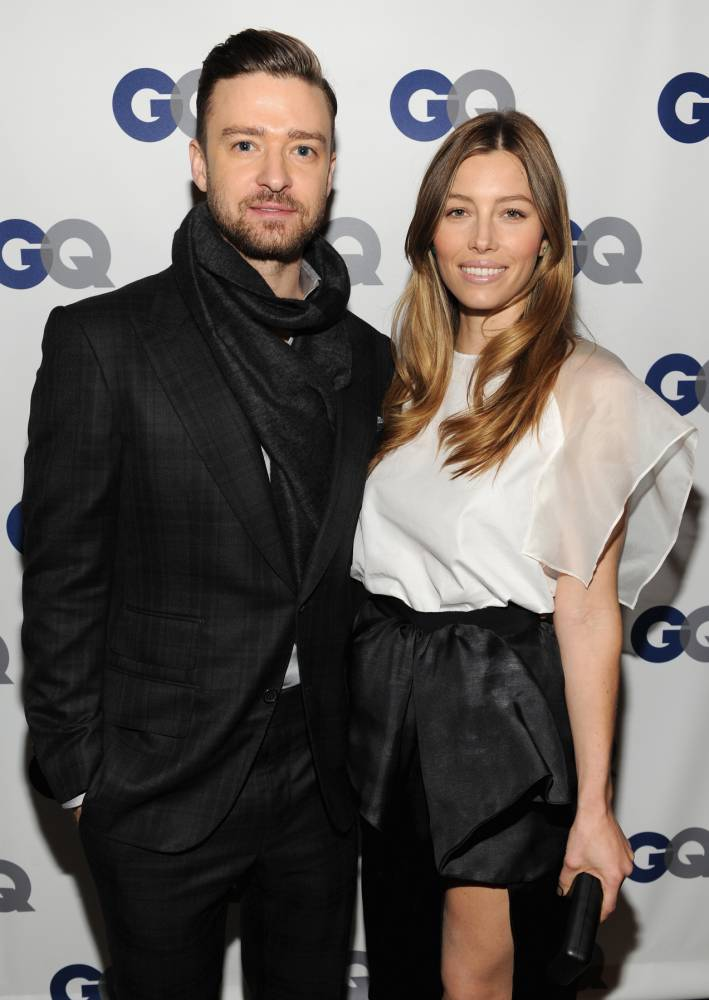 NEW YORK, NY - NOVEMBER 11:  (Exclusive Coverage) Musician/actor Justin Timberlake (L) and actress Jessica Biel attend the GQ Men of the Year dinner on November 11, 2013 in New York City.  (Photo by Kevin Mazur/Getty Images for GQ)