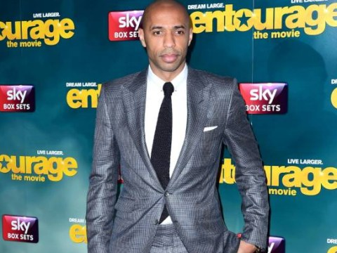 Thierry Henry turns down the chance of a dance with Bond girl Naomie Harris
