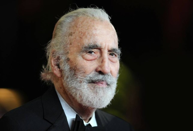 Picture Shows:   Christopher Lee attending the World Premiere  of 'Skyfall' at the Royal Albert Hall, London, on Tuesday October 23, 2012.