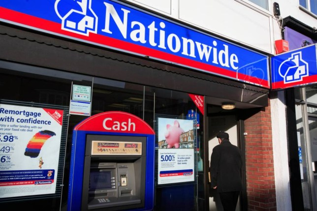 B64W6M united kingdom essex rayleigh the nationwide building society. Image shot 2008. Exact date unknown.