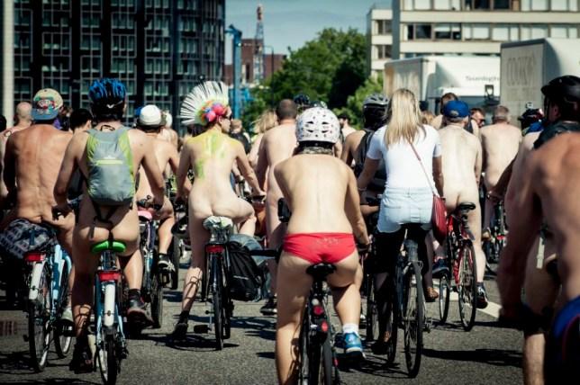 World Naked Bike Ride, London, UK, 08/06/2013. (Photo by: PYMCA/UIG via Getty Images)
