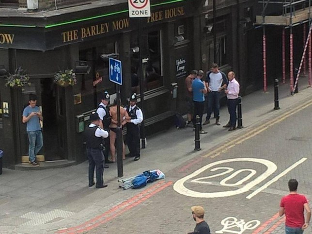BREAKING. Naked man arrested for day drinking in Shoreditch.  https://twitter.com/Thealex09
