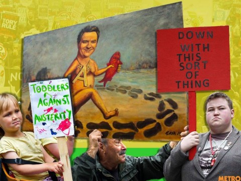 The best, funniest and weirdest placards from the #EndAusterityNow demo