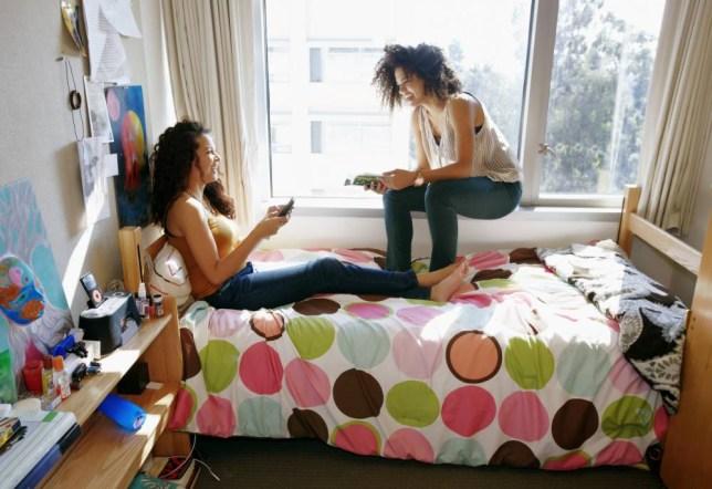university students in dorm