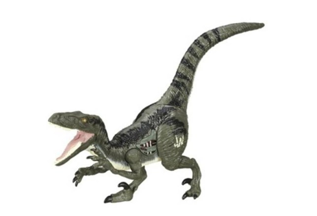 Jurassic World toys describe Blue the lady raptor as a male