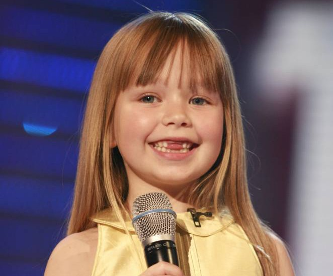 No Merchandising. Editorial Use Only.. Mandatory Credit: Photo by Ken McKay/REX Shutterstock (671336cl).. Connie Talbot.. 'Britain's Got Talent' TV programme, London, Britain - 17 Jun 2007.. ..
