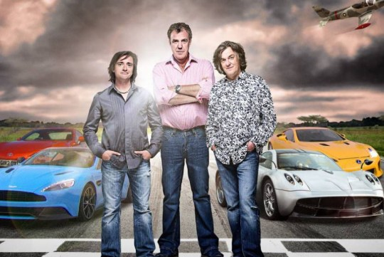 Top Gear presenters Jeremy Clarkson, James May and Richard Hammond