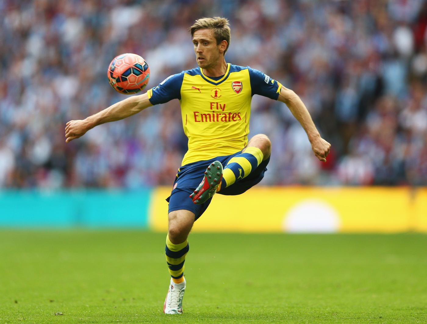 Arsenal's Nacho Monreal was the most accurate passer in the Champions League