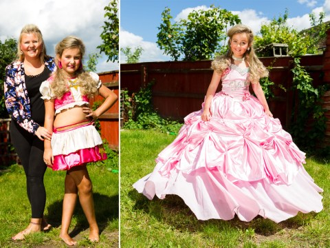 Mum spends £350 a month to make her 9-year-old daughter a beauty queen