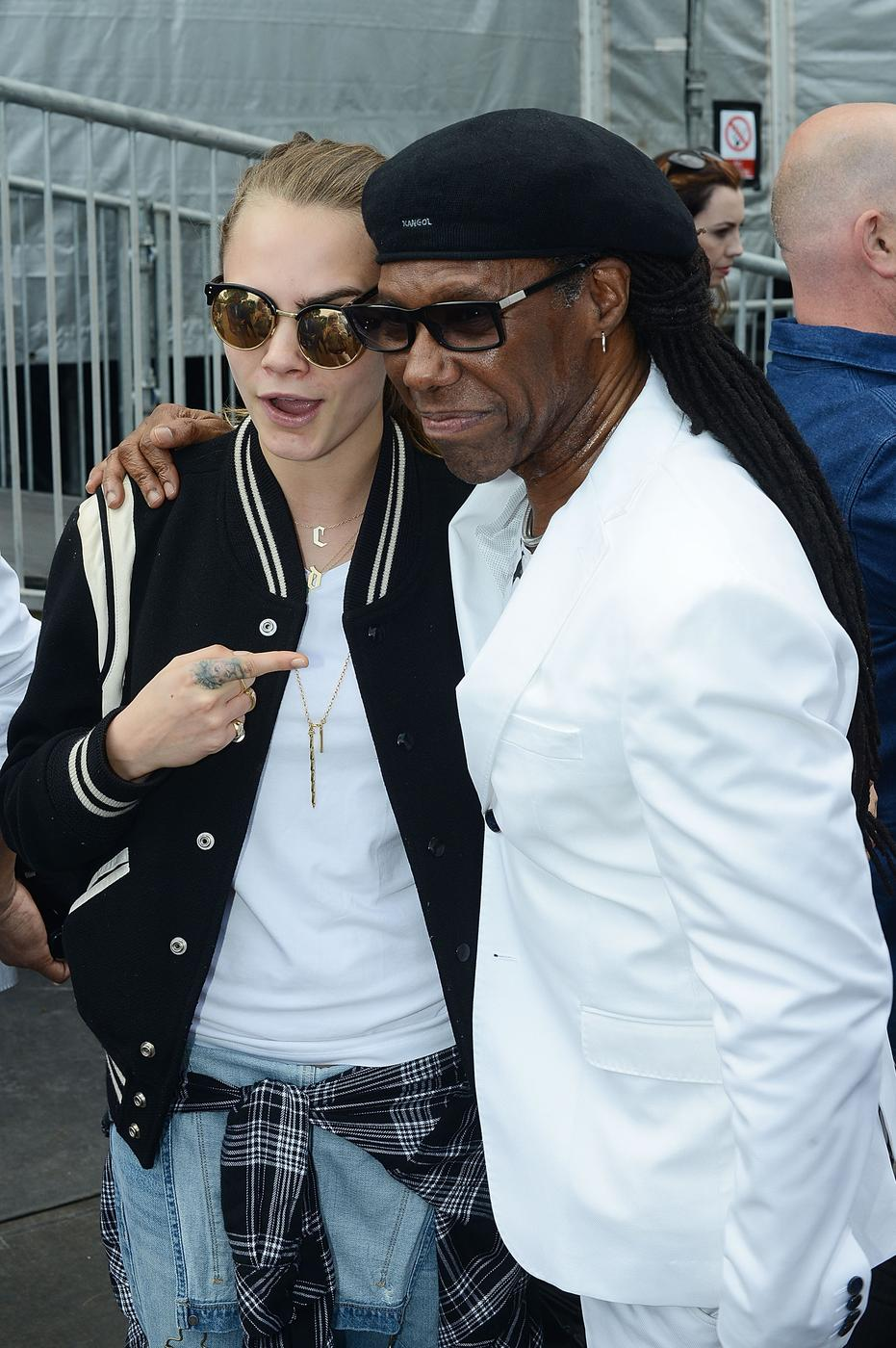 Cara Delevingne teams up with Nile Rodgers as she prepares to launch music career