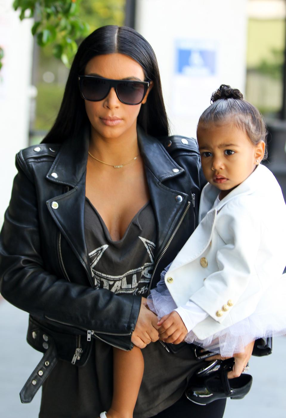 Kim Kardashian North West Celebrity Sightings In Los Angeles - May 28, 2015 Bauer-Griffin/GC Images