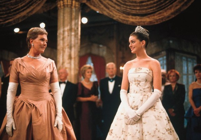 Film 'The Princess Diaries' (2001) starring Julie Andrews and Anne Hathaway.