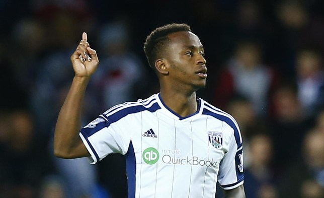 Football: Saido Berahino celebrates after scoring the second goal for West Brom from the penalty spot Carl Recine/Reuters