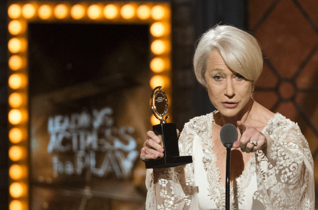 Helen Mirren takes home a Tony for her performance in The Audience (Picture: Reuters)