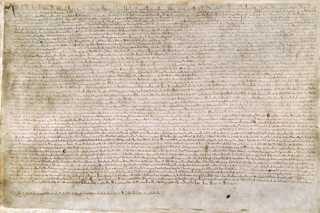 The Magna Carta's 800th birthday is being celebrated (picture: British LIbrary)