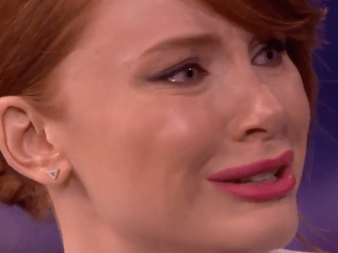 Jurassic World's Bryce Dallas Howard shows off her ability to cry on cue – at anything
