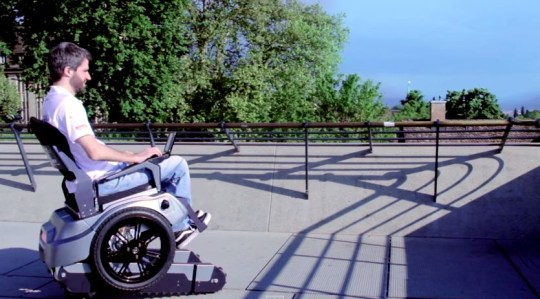 Tank-like' wheelchair prototype designed in Zurich