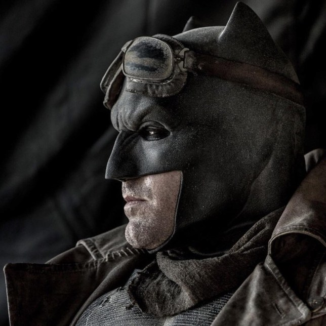 Introducing Desert Batman in new Batman v Superman shot Source: Instagram/clayenos HYPERLINK: https://instagram.com/clayenos/
