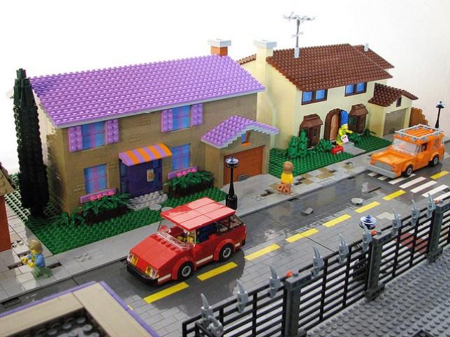 The Simpsons Springfield Lego