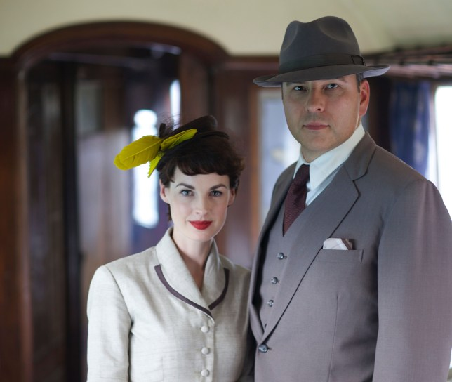 WARNING: Embargoed for publication until 18/09/2014 - Programme Name: Partners In Crime - TX: n/a - Episode: n/a (No. n/a) - Picture Shows:  Tommy (DAVID WALLIAMS), Tuppance (JESSICA RAINE) - (C) Endor Productions - Photographer: Laurence Cendrowicz