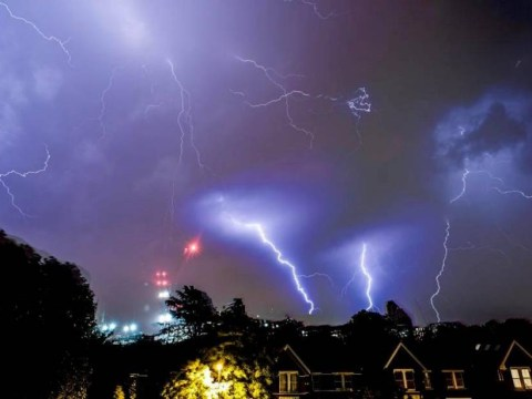 ICYMI – this is what last night's epic thunderstorm looked like