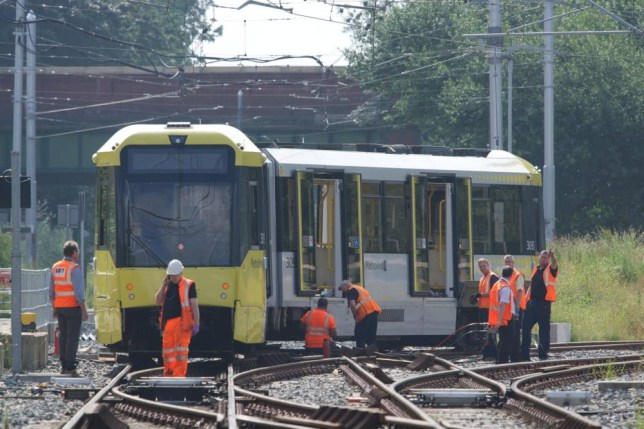 Alamy Live News. EX1AB1 Manchester, UK. 04th July, 2015. A Metrolink tram blocks the line to East Didsbury and the airport after coming off the lines at St Werburgh's Road Station at about midnight last night.. The line is expected to be closed for most of the day. Metrolink Tram comes off line Manchester UK © John Fryer/Alamy Live News This is an Alamy Live News image and may not be part of your current Alamy deal . If you are unsure, please contact our sales team to check.