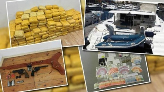 Austrian police have arrested a father and son who are accused of transporting 600 kg of cocaine on a yacht from Brazil to Europe.