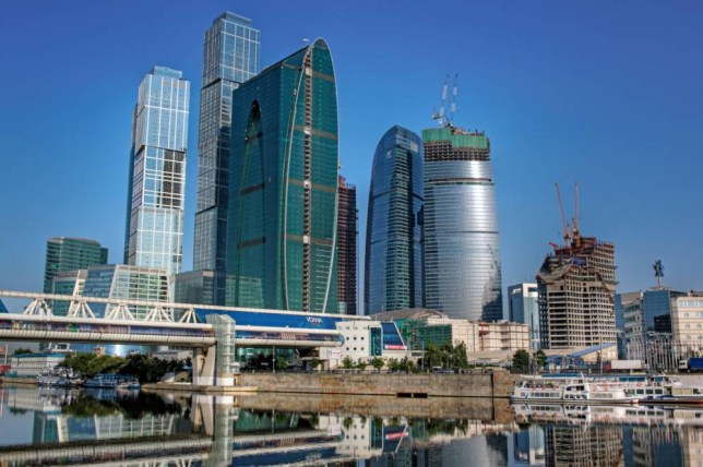 C5825T Moscow International Business Center, Moscow-City, Russia, Europe, European, East Europe, Eastern Europe, Russian, Architecture,