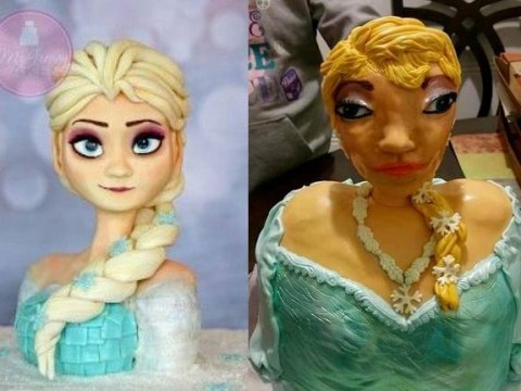 The folks behind this 'terrifying' Queen Elsa birthday cake have revealed that it was all for a good cause