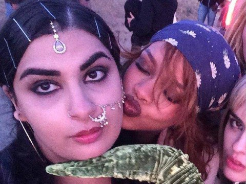 Rihanna found one of her henchwomen for the BBHMM video on Instagram