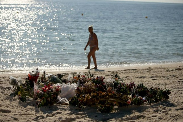 "File photo dated 03/07/15 of flowers on the beach near the RIU Imperial Marhaba hotel in Sousse, Tunisia, as travel firms are pulling out of the country as a holiday destination after the British government warned against all but essential travel there amid fears of a fresh terror attack.  PRESS ASSOCIATION Photo. Issue date: Thursday July 9, 2015. The Foreign & Commonwealth Office (FCO) has advised British tourists to leave the country following intelligence that a terrorist attack is ""highly likely"". Thomson and First Choice immediately cancelled all outbound flights to Tunisia for the summer season running up to and including October 31. See PA story POLITICS Tunisia. Photo credit should read: Steve Parsons/PA Wire"